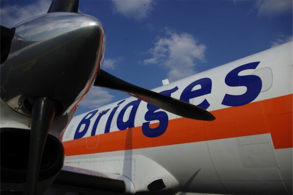 Bridges liveried plane at airport